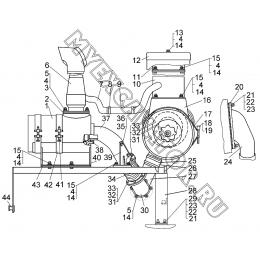 Установка агрегатов системы впуска и выпуска