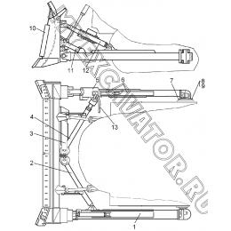Бульдозерное оборудование модели 12Е