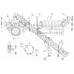 Двигатель с оборудованием