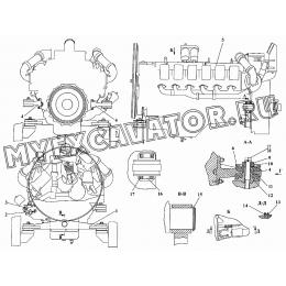 Установка двигателя ЯМЗ-850.10-01