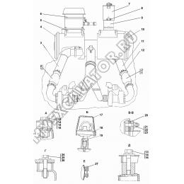 Установка систем воздухоочистки и выпуска