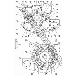 Редуктор привода насосов