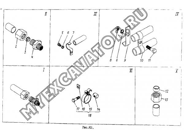 Гидросистема ГМКП ТО-30.45.00.000 (часть 2) Орел-Погрузчик ТО-30
