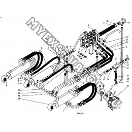 Гидросистема погрузочного оборудования ТО-30.44.00.000 (часть 2)