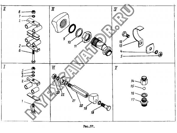 Гидросистема погрузочного оборудования ТО-30.44.00.000 (часть 3) Орел-Погрузчик ТО-30