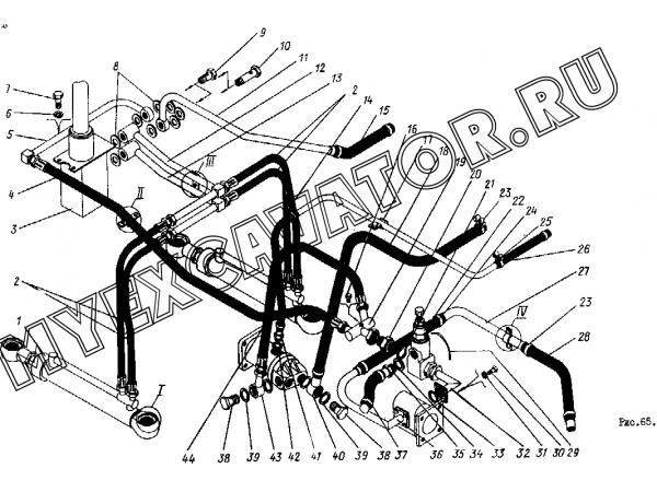 Гидросистема рулевого управления ТО-30.46.00.000 (часть 1) Орел-Погрузчик ТО-30