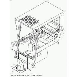 Коробка и лист пола кабины