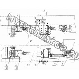Трансмиссия КО-823.16.01.000-01