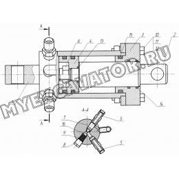 Гидроцилиндр подъема щетки КО-815М.04.00.500-01