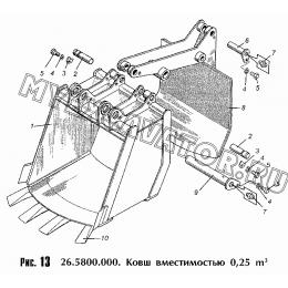 Ковш вместимостью 0,25 куб.м. 26.5800.000