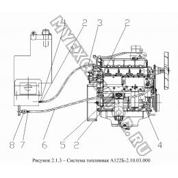 Система топливная А122Б-2.10.03.000