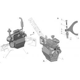 Установка двигателя Д-442-13-10И