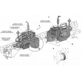 Установка силовая Д-442-13-10 ЗТМ216-01.00.000