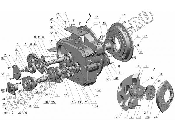 Редуктор отбора мощности ЗТМ216-31.10.000 Донэкс ЗТМ-216