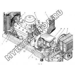 Установка дизеля и насосов ЭО-5122.11.20.000-1
