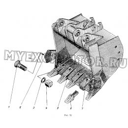 Ковш обратной лопаты 1,25куб.м ЭО-5122.13.14.000-1