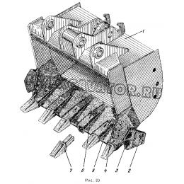 Ковш обратной лопаты 1,6куб.м ЭО-5122.13.08.000-1