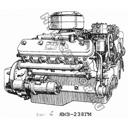 Двигатель ЯМЗ-238ГМ ЯМЗ 236
