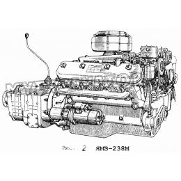 Двигатель ЯМЗ-238М ЯМЗ 236