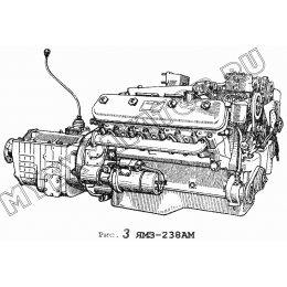 Двигатель ЯМЗ-238АМ ЯМЗ 236