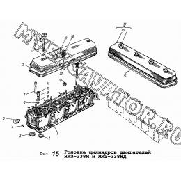 Головка цилиндров двигателей ЯМЗ-238М и ЯМЗ-238НД ЯМЗ 236