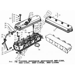 Головка цилиндров двигателей ЯМЗ-238Н, ЯМЗ-238Л, ЯМЗ-238ПМ, ЯМЗ-238ФМ ЯМЗ 236