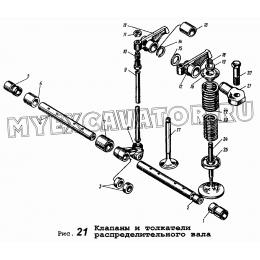 Клапаны и толкатели распределительного вала ЯМЗ 236