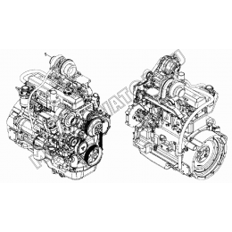 Двигатель/ENGINE, TIER-III, 4045HF280 (S/N: A19001-) G1-1-1 Hidromek HMK 102 B