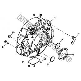Картер маховика/FLYWEEL HOUSING, 4045HF280 (S/N: A19001-) G1-5-1 Hidromek HMK 102 B