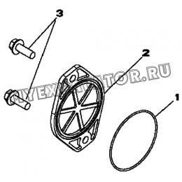 Крышка/AUXILIARY DRIVE ADAPTER, LINES AND COVER, 4045HF280 (S/N: A19001-) G1-33-1 Hidromek HMK 102 B