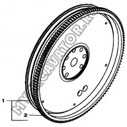 Маховик/FLYWEEL, 4045HF280 (S/N: A19001-) G1-6-1 Hidromek HMK 102 B