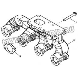 Выпускной коллектор/EXHAUST MANIFOLD, 4045HF280 (S/N: A19001-) G1-16-1 Hidromek HMK 102 B