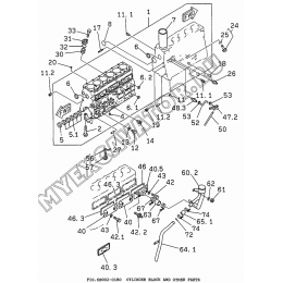 6BG02-01B0 Блок цилиндров/CYLINDER BLOCK AND OTHER PARTS Isuzu 6BG1