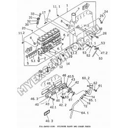 6BG02-01B0 Блок цилиндров/CYLINDER BLOCK AND OTHER PARTS Isuzu 6BG1