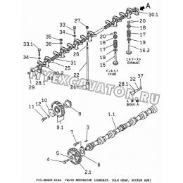 6BG09-01A0 Клапанный механизм/VALVE MECHANISM (CAMSHAT, IDLE GEAR, ROCKER ARM) Isuzu 6BG1