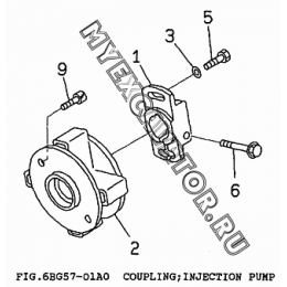 6BG57-01A0 Привод ТНВД/COUPLING, INJECTION PUMP Isuzu 6BG1