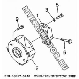 6BG57-01A0 Привод ТНВД/COUPLING, INJECTION PUMP Isuzu 6BG1