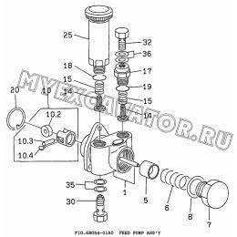 6BG54-01A0 Топливоподкачивающий насос/FEED PUMP ASS'Y Isuzu 6BG1