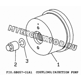 6BG57-01A1 Привод ТНВД/COUPLING, INJECTION PUMP Isuzu 6BG1