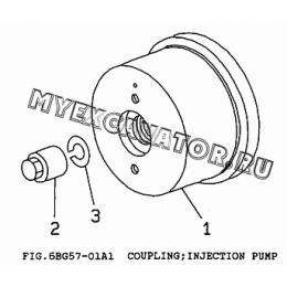 6BG57-01A1 Привод ТНВД/COUPLING, INJECTION PUMP Isuzu 6BG1