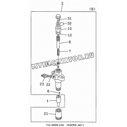 6BG58-01A0 Форсунка/INJECTOR ASS'Y Isuzu 6BG1