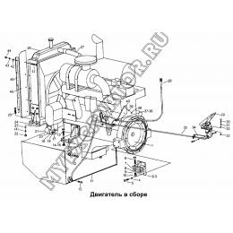 Двигатель в сборе LW330F(II).1 Mitsuber ML333N