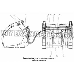 Гидролинии для дополнительного оборудования LW300F(II).37.III.2 Mitsuber ML333N
