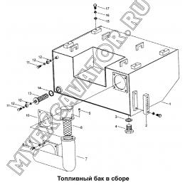 Топливный бак в сборе 330E.1.1 Mitsuber ML333N