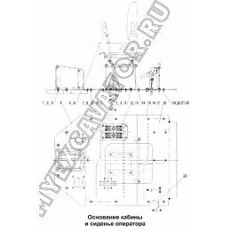 Основание кабины и сиденье оператора 300F.10.2.A Mitsuber ML333N