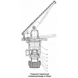 Главный тормозной пневмоцилиндр в сборе 300F Mitsuber ML333N