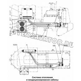 Система отопления и кондиционирования кабины 300F.14 Mitsuber ML333N