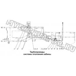 Трубопроводы системы отопления кабины LW326F.21 Mitsuber ML333N