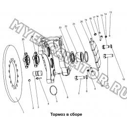 Тормоз в сборе Mitsuber ML333N