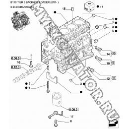 Блок цилиндров/CRANKCASE New Holland B110